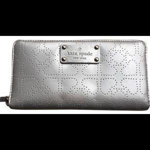 Kate Spade Neda Silver Metro Spade Wallet